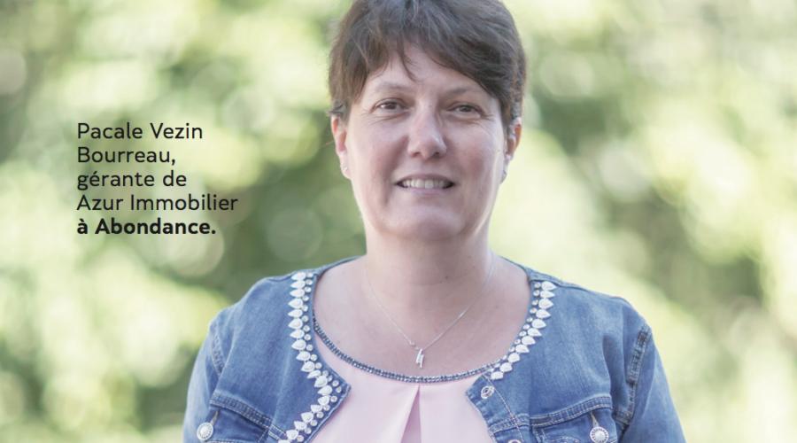 Pascale Vezin Bourreau, Azur immobilier développe ses compétences à Evian-les-bains