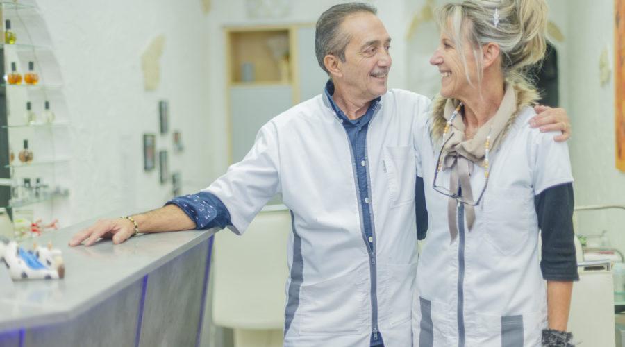 Qui ne connait pas encore ce sympathique couple que forment Nadine et Lionel gérant de Couleur d'Ongle à Evian ?